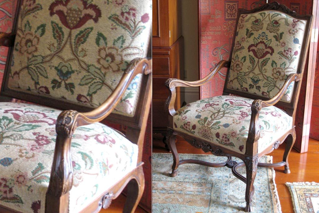 C1880 PAIR French Louis XIV baroque style Armchairs