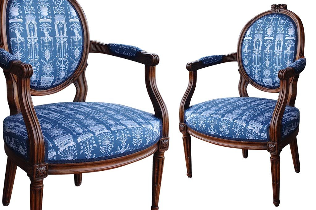 1850s French Second Empire Fauteuil Armchairs