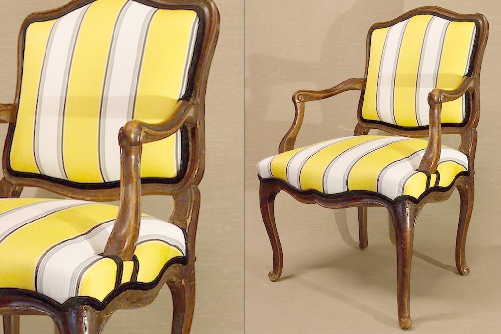 C1770 French Louis XV Fauteuil Armchair