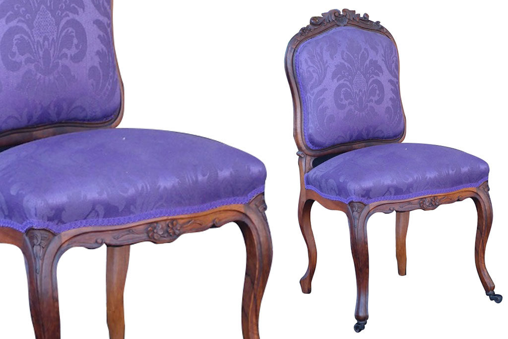 C1870 PAIR French Napoleon III Chairs