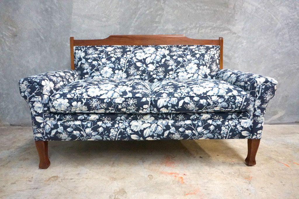 Antique Furniture upholstery: Edwardian Blackwood Sofa