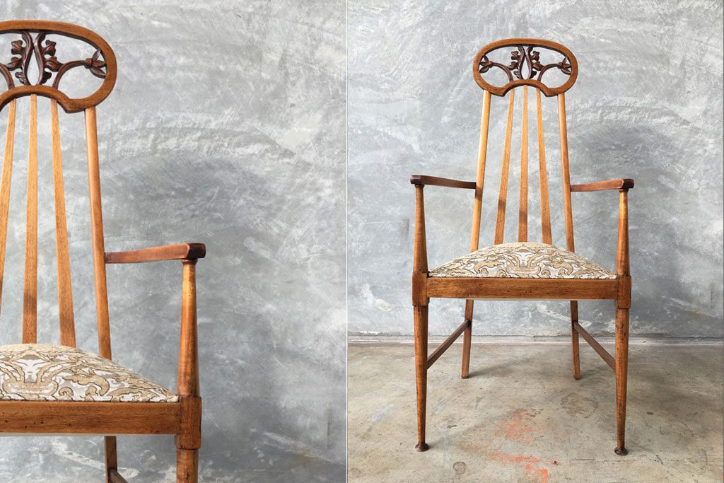 Antique Furniture upholstery: Victorian Dining Chair